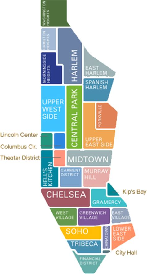 map of nyc neighborhoods image gallery new york neighborhoods