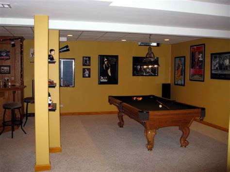 basement basement finishing cost with yellow paint