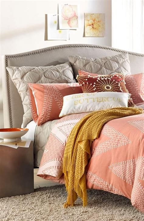 gray and coral bedding best 25 coral chevron bedding ideas on pinterest coral and grey bedding chevron