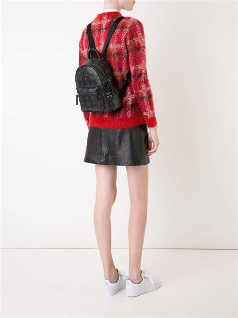 lyst mcm small stark backpack  black