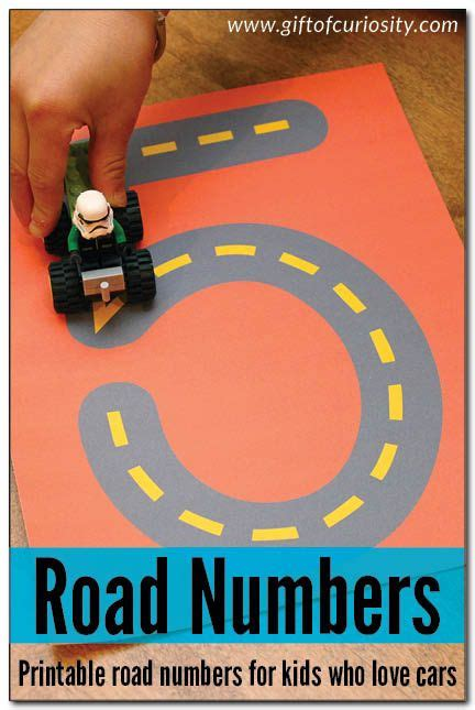 free printable road numbers road numbers printable for learning how to write numbers