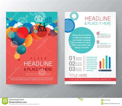 circle brochure template abstract circle design brochure flyer layout template