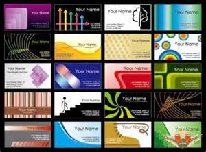free business cards sample templates in vector