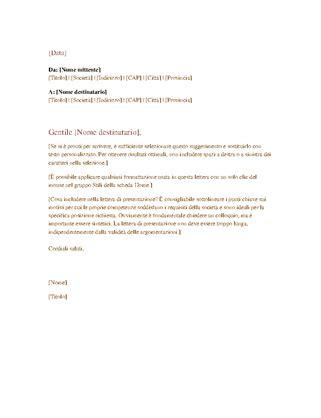 lettere commerciali italiano esempi lettera commerciale formale