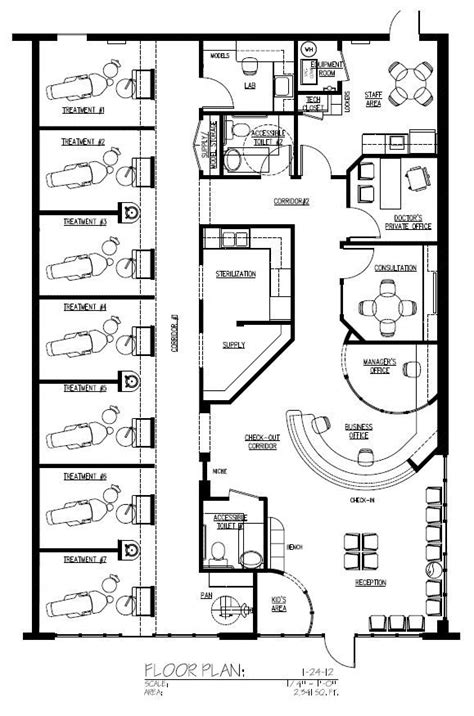 Floor Plan Dental Clinic General2341 Jpg 579 215 875 Pixels Pinteres