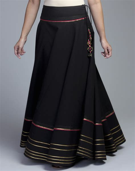 buy cotton gota trim skirt in india at cooliyo