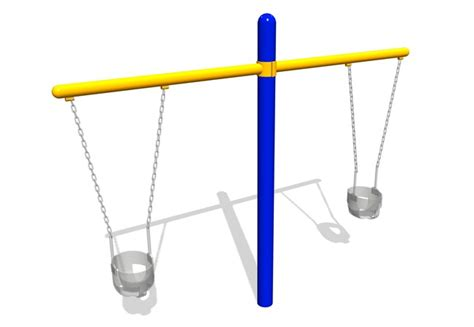 Landscape Structures Swing Chain Toddler Swings Angled Chains Two Seats
