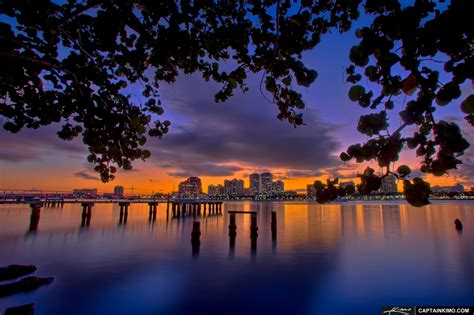 best lighting west palm beach city lights at sunset from downtown west palm beach