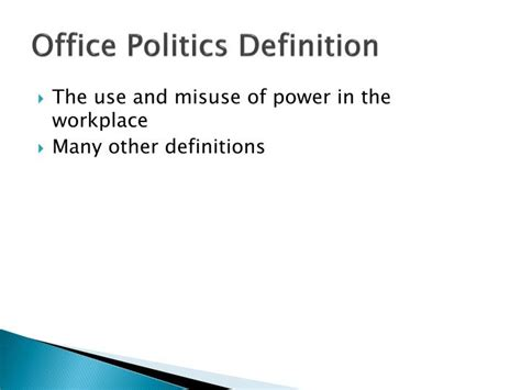 office definition ppt office politics powerpoint presentation id 1591970