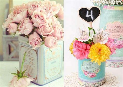 decorar mesa de boda centros de mesa para boda fotos ideas con latas foto