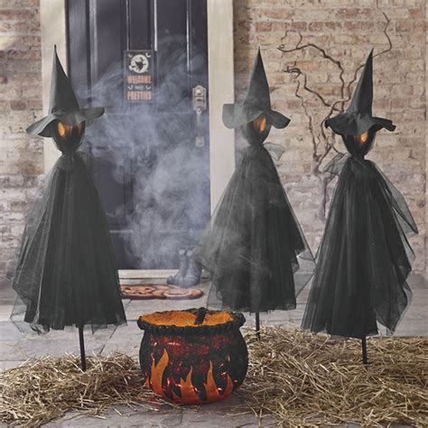 Witch Decorations by Spooky And Creative Outdoor Decorating Ideas