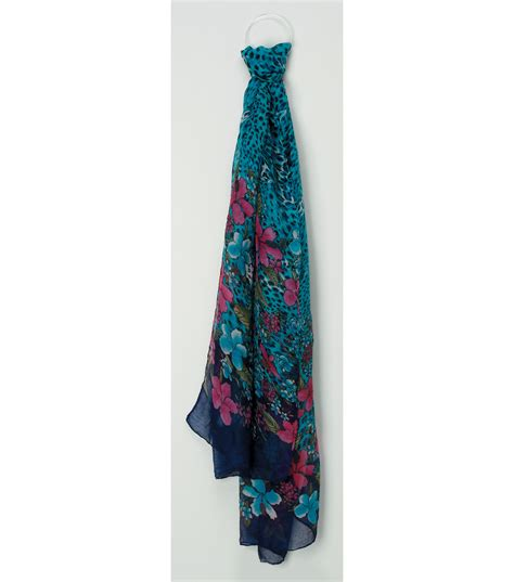 oxford jewelry co turquoise animal print scarf