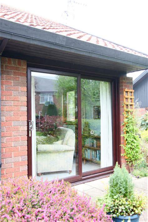 pane patio doors rosewood sliding patio doors 3 pane upvc