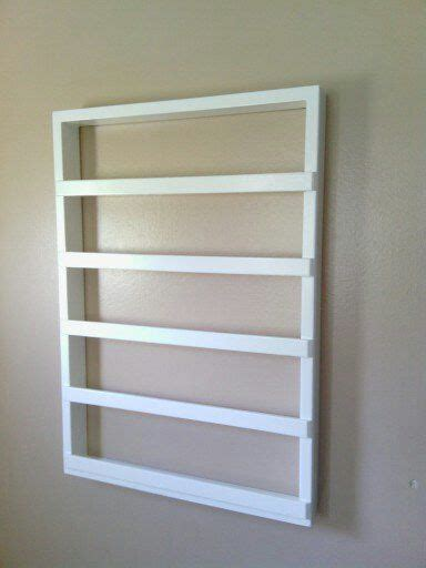 White Nail Rack by Hanging Wood Nail Rack White Holds 50 Bottles