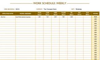 Free Printable Work Schedule Template Free Work Schedule Templates For Word And Excel