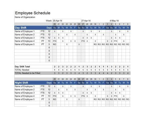 3 shift schedule template 14 dupont shift schedule templats for any company free