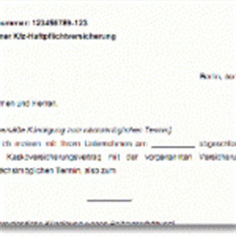 Kfz Versicherung K Ndigen Trick by Office Vorlage K 252 Ndigungsschreiben Gratis Download