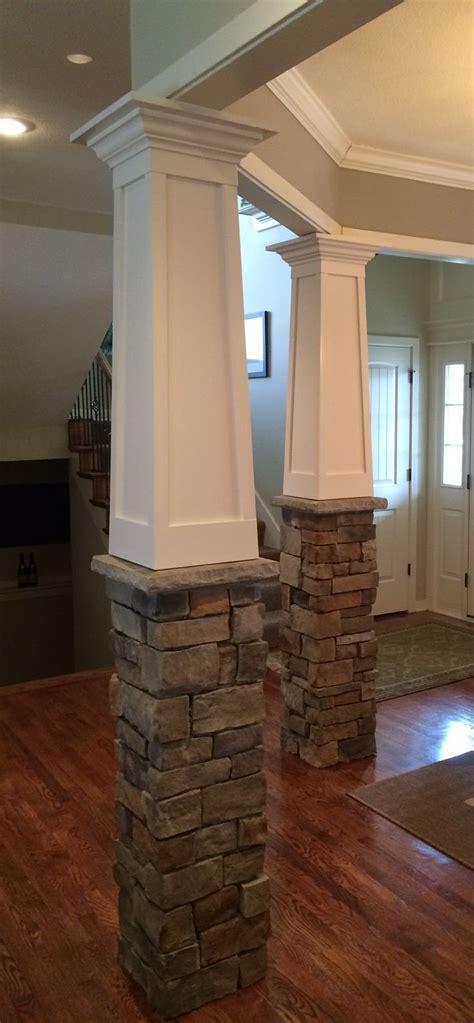 natural wood pillars porch columns square wood columns