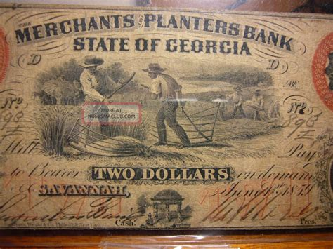 2 dollar merchants planters bank ga obsolete