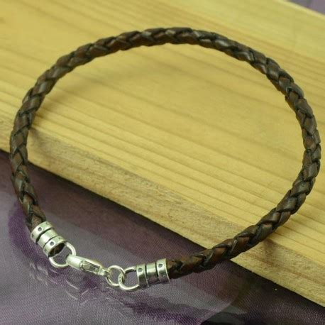 Handmade Mens Leather Bracelets - handmade mens leather bracelet brown custom length maxshock
