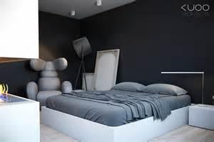 black gray white bedroom interior design ideas