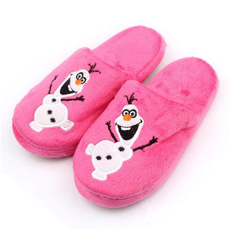 children house slippers cartoon kids slippers olaf warm plush stuffed slippers