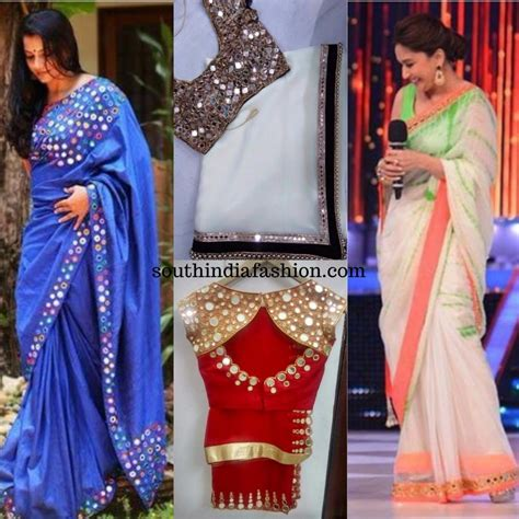 Wardrobe Designs Photos by Mirror Work Sarees A Fancy Addition To Your Wardrobe