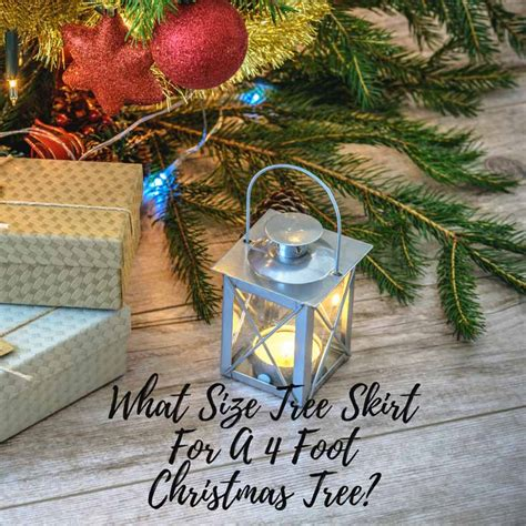 what size tree skirt for a 4 foot tree small sized mini