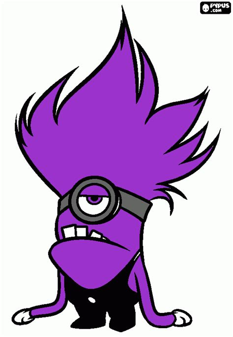 coloring pages of purple minion free coloring pages of evil purple minion