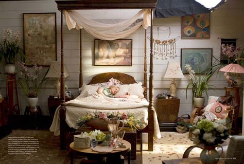 Different Styles Of Decorating A Home by Impressive Wooden Canopy Bed Installed At