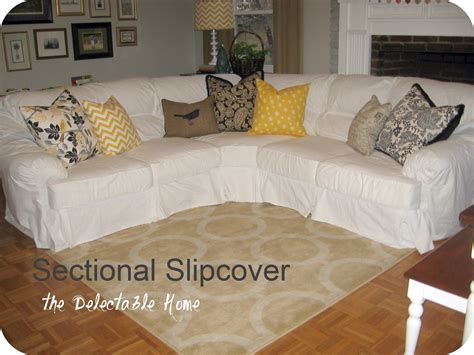 The Delectable Home Impossible Sectional Slipcover Sew How To Sew A Sofa Slipcover