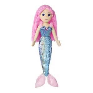 nixie sea sparkles pink haired mermaid doll aurora