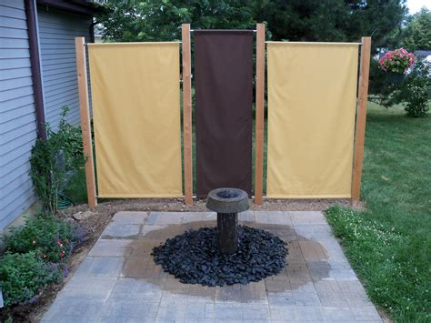 Sichtschutz Stoff Zaun by I Build This And Fabric Privacy Screens My