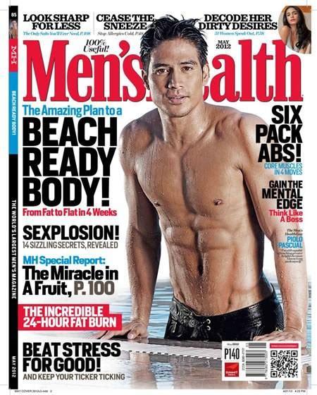 aktor filipina six pack piolo pascual covers men s health ph may 2012 issue