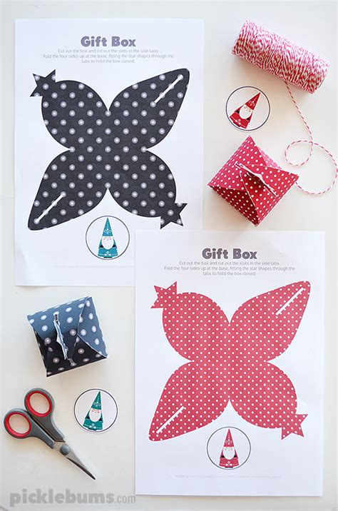 lets wrap  printable gift boxes picklebums