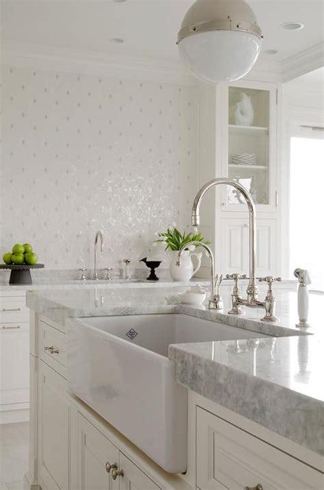 White Princess Quartzite Countertops by Princess White Quartzite Countertop With Farmhouse Sink
