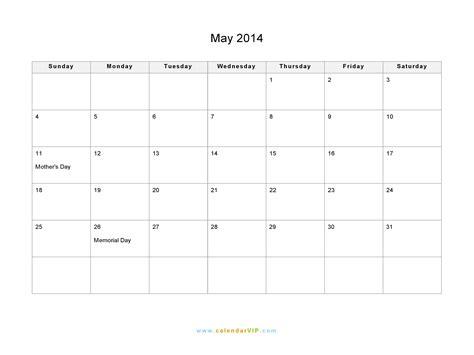 may 2014 calendar blank printable calendar template in