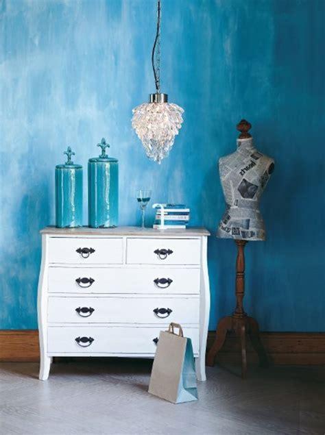 Wand Kristallleuchter by Wandfarbe Lagune 30 Kreative Beispiele