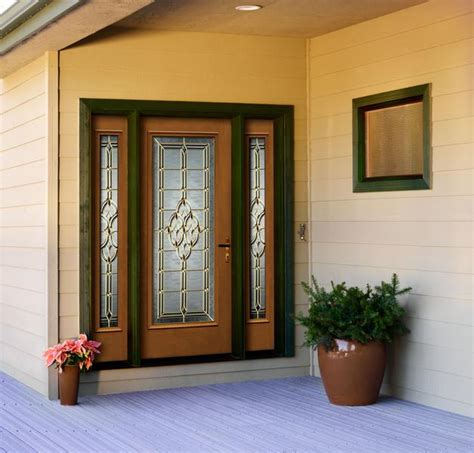 Jeld Wen Entry Doors by Jeld Wen Architectural Glass Panel Fiberglass Door Oak Woodgrain Sidelights Decorative Glass