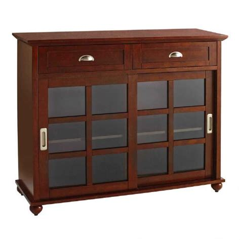 Sliding Drawers by Sliding Door Buffet With 2 Drawers Tree Shops