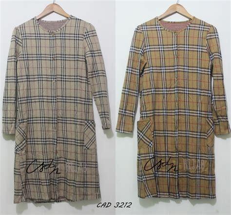 Famela Tunik Original By Biastore Atasan Vest Murah Cantik cardigan kotak kotak sweater vest