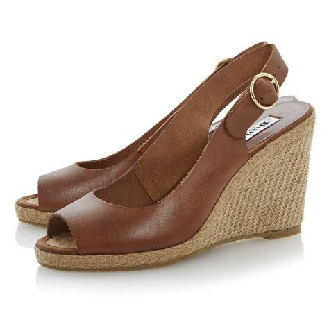 dune gleeful espadrille slingback wedge sandals in brown