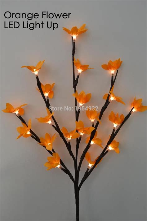 light up twig branches stand led battery blossom forsytia branch light 20 quot 20led light
