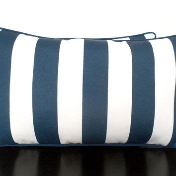 Blue striped outdoor pillow cover 21x12, from anitascasa