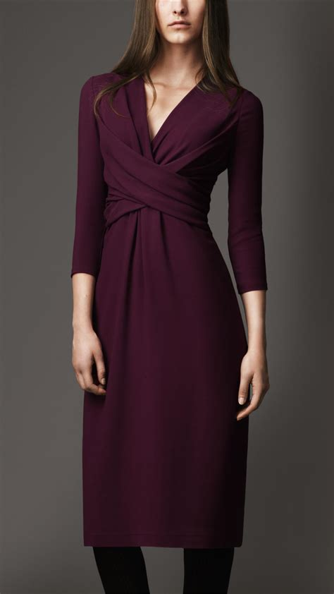 Harsey Dress lyst burberry twist front jersey dress in purple