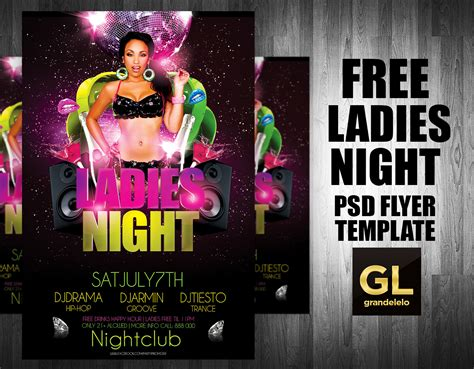 free ladies night flyer template on behance