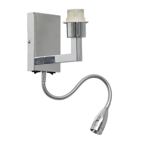 Lu Led Fleksibel wall lighting fixture with led l chrome