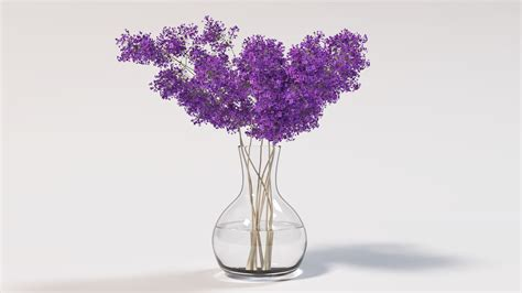 Flowers In Vase With Water by Flower Vase Renders