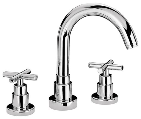 cross handle bathroom sink faucet luxe widespread lavatory faucet with tubular swivel spout