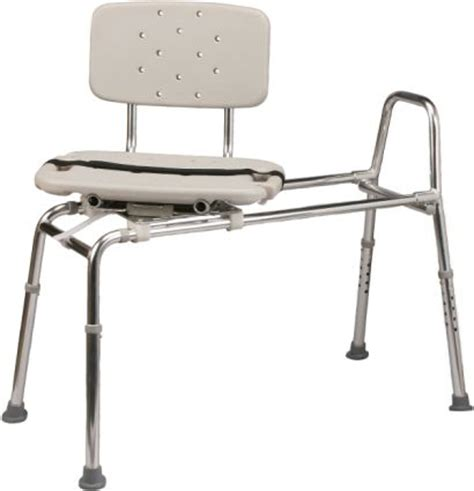 sliding transfer bath bench and chair that swivels